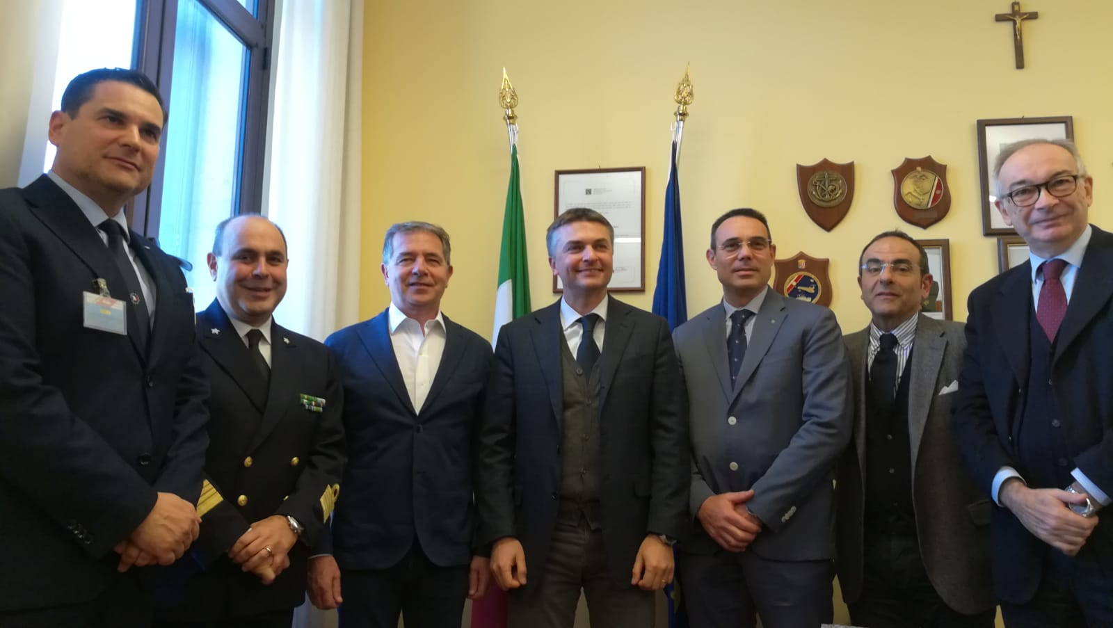 PRESIDENTE BANDIERA ALL'INCONTRO CON RIXI IN CP AD OLBIA