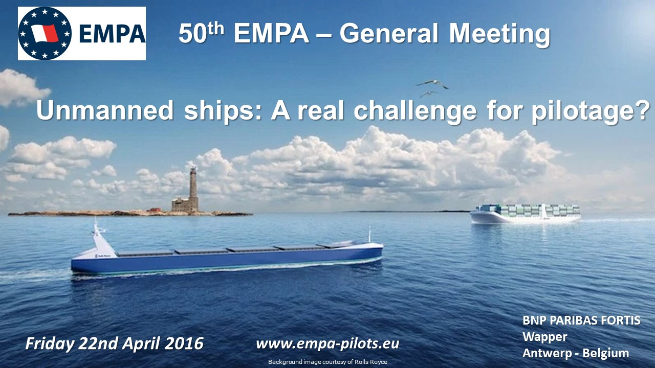 50th EMPA General Meeting - Antwerp 22nd April 2016